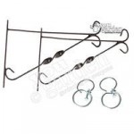 Pair of 12 Brackets For Hanging Baskets with Swivel Hooks