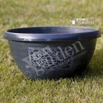 Set of metallic effect hand Painted Chengdu Bowls (12 30cm